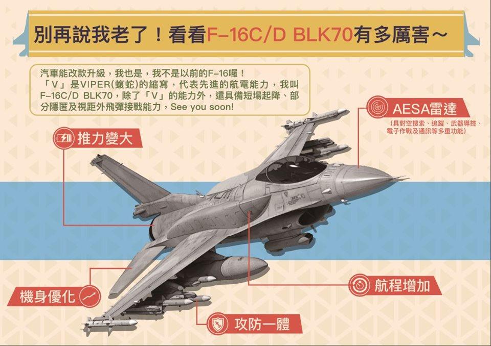 تايوان ترغب بشراء مقاتلات F-16V جديده لتحل محل مقاتلاتها المتقادمه نوع F-5  ECZwaHrVAAANZF2