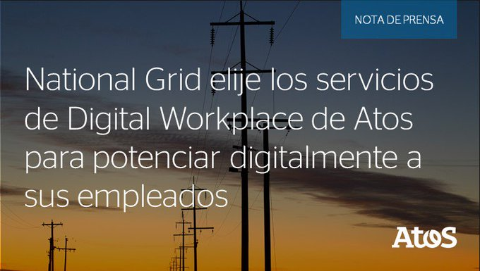 @nationalgridus adjudica a Atos un contrato de Servicios de Puesto de Trabajo Digital de...
