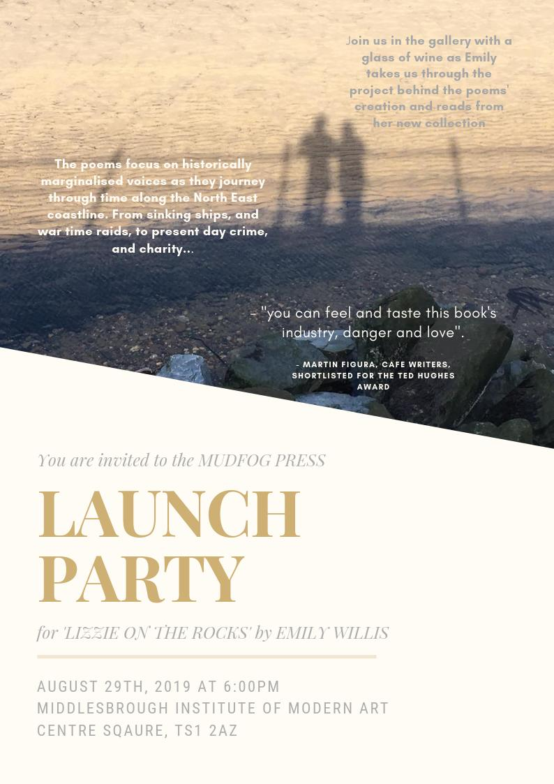 Congratulations to former MA student @EmilyWillis103 on the publication of her poetry collection 'Lizzie on the Rocks', a 'psychogeographical exploration of the North East coastline'.✍️🎉Emily's book launch takes place on 29 August at @mimauseful. Details: https://www.facebook.com/events/690973814685480/…