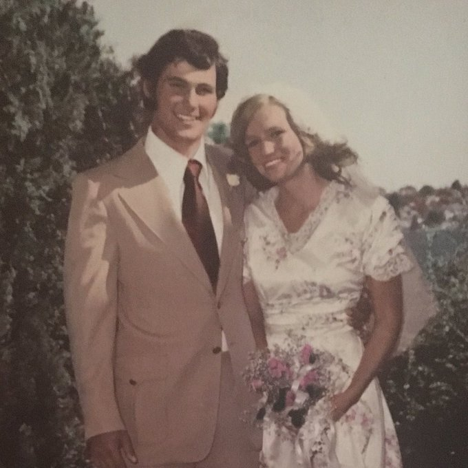 Forty-seven years ago on a perfect blue sky day in August. Happy anniversary, Trudi.