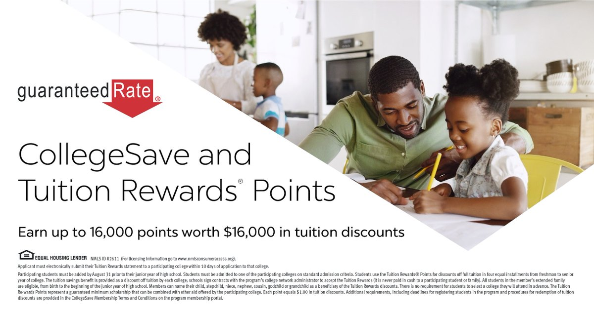 Save for college while saving on your mortgage. rate.com/resources/coll…