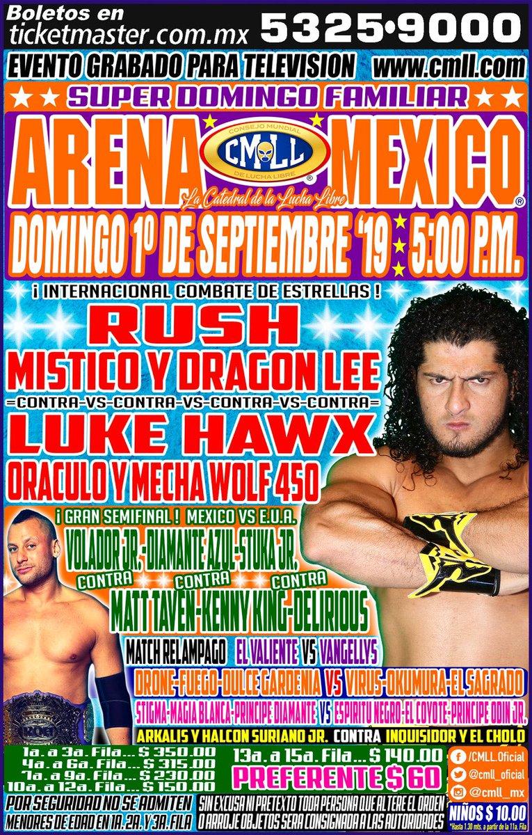 Una mirada semanal al CMLL (del 22 al 28 de agosto de 2019) 9