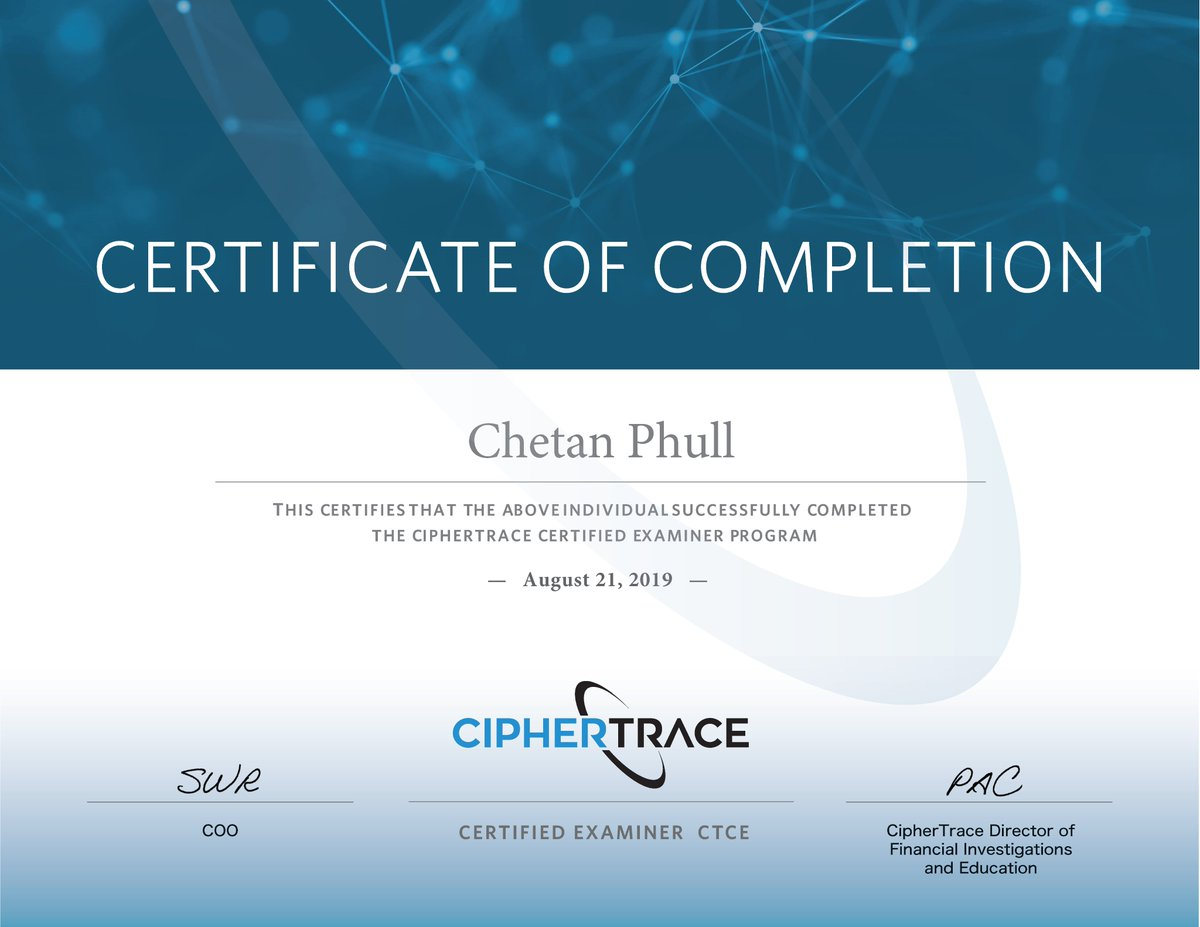 certified cryptocurrency forensic investigator
