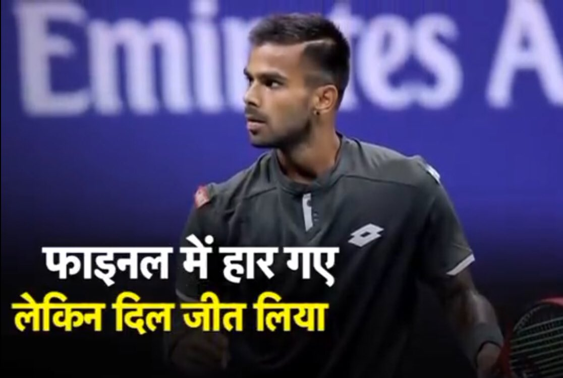 A fabulous show by 22-year-old @nagalsumit  , who won the first set against Roger Federer, before eventually losing 6-4 1-6 2-6 4-6 to the 20-time Grand Slam champion. Sumit Nagal is from the Virat Kohli Foundation.Wishing him all the best for the future! #viratkholi https://t.co/qfqkCrLz4H