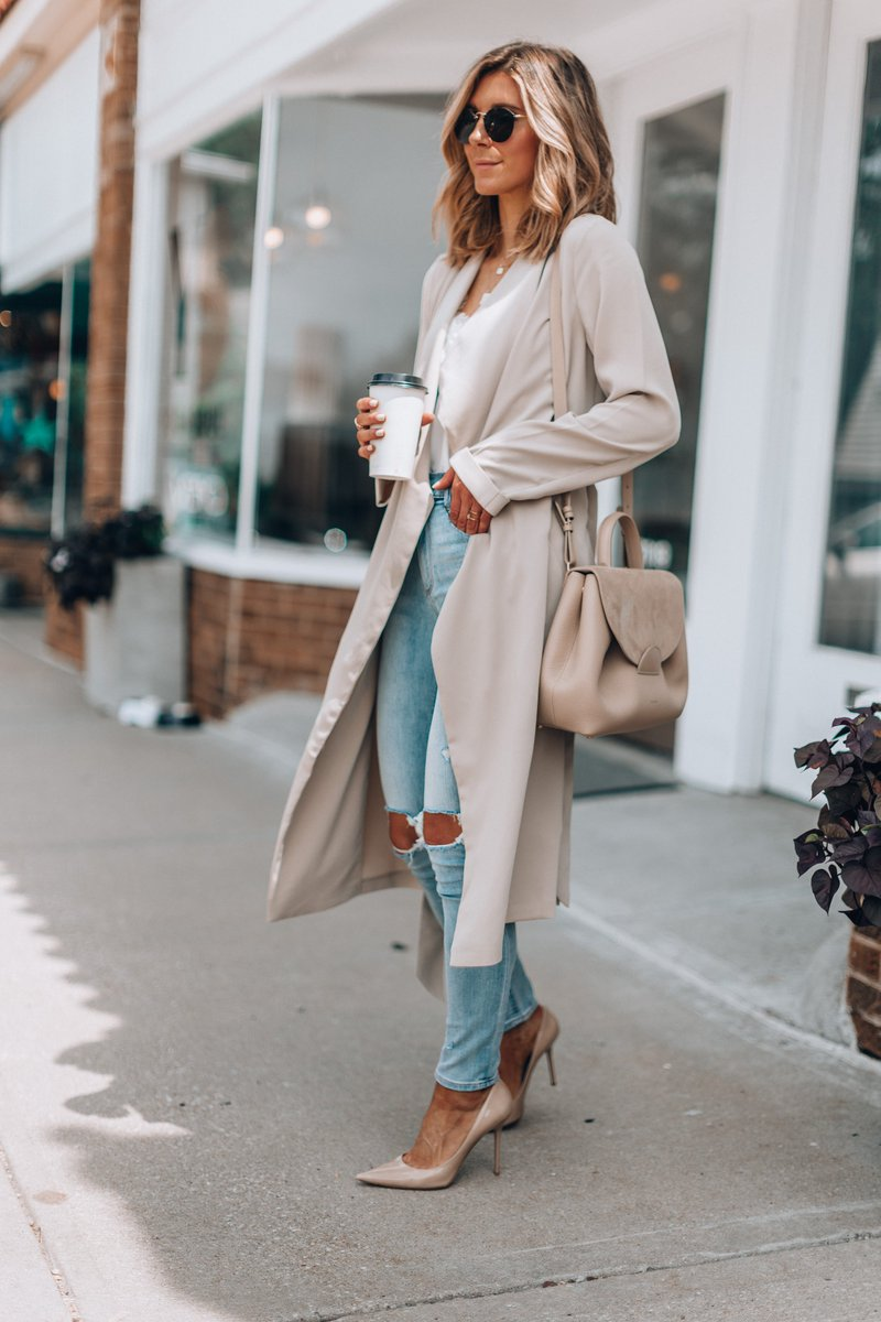 Sharing a look to transition you from summer to fall on the blog today with @express . This draped trench is so soft and love the high waisted fit in these under $80 jeans. #expresspartner https://t.co/W8JBGJmntE #liketkit @liketoknow.it #LTKunder100 #wiw ad https://t.co/Wy9GvvvCHL