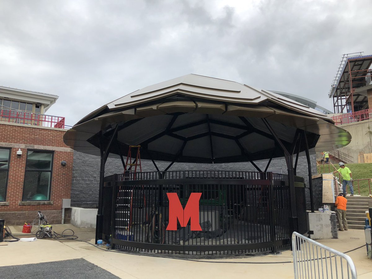 New this season, #Terps football players will run out on to the field at Maryland Stadium under this new shell entrance @NBC4Sports @nbcwashington https://t.co/By9iKCnol5