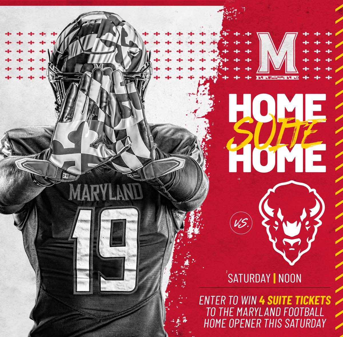 GIVEAWAY - Enter to win four (4) suite tickets to the @TerpsFootball home opener vs. Howard this Saturday at Capital One Field at Maryland Stadium! Winners will be selected and notified on Wednesday, 8/28/19. #FearTheTurtle   Enter now: https://t.co/E04new4UVL #ad https://t.co/kXBwllrica