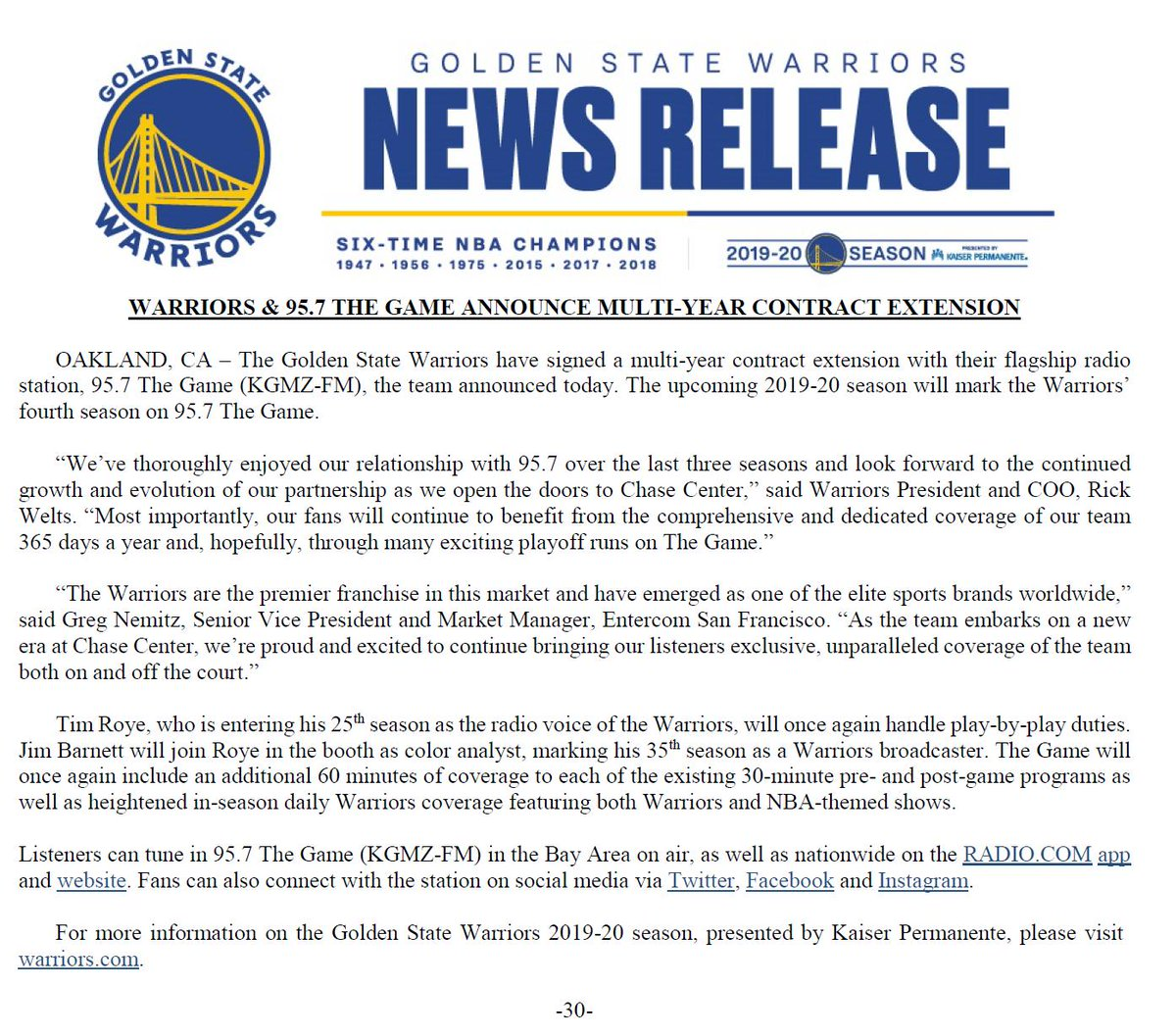 image regarding Golden State Warriors Printable Schedule named Warriors PR (@WarriorsPR) Twitter