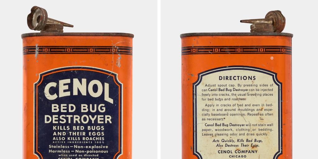 Science History Institute On Twitter Cenol Bed Bug Destroyer Promises That It Acts Quickly Kills Bed Bugs Unfortunately It Comes From Our Collection Of Ddt Based Pesticide Containers So You Probably Shouldn T Use