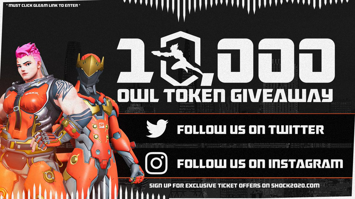 10,000 #OverwatchLeague Token #Giveaway Help us hit 100k on Instagram and 100 fans will win 100 Tokens! -Tag Your Friends -Turn Notifications On -RT, Like & Follow @SFShock Click Here 👉 sfs.gg/10k