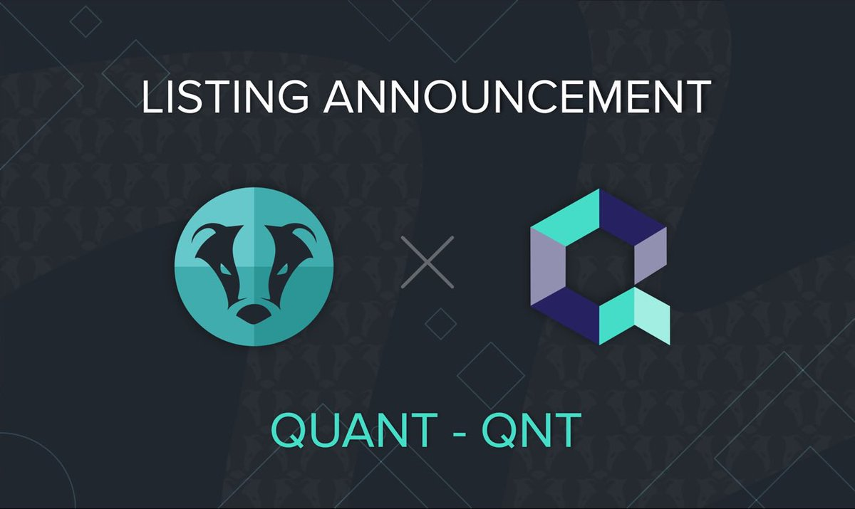 ANNOUNCEMENT: Quant Network (QNT) is now listed on @BeaxyExchange! Read more https://t.co/cTvvQ6ERBM