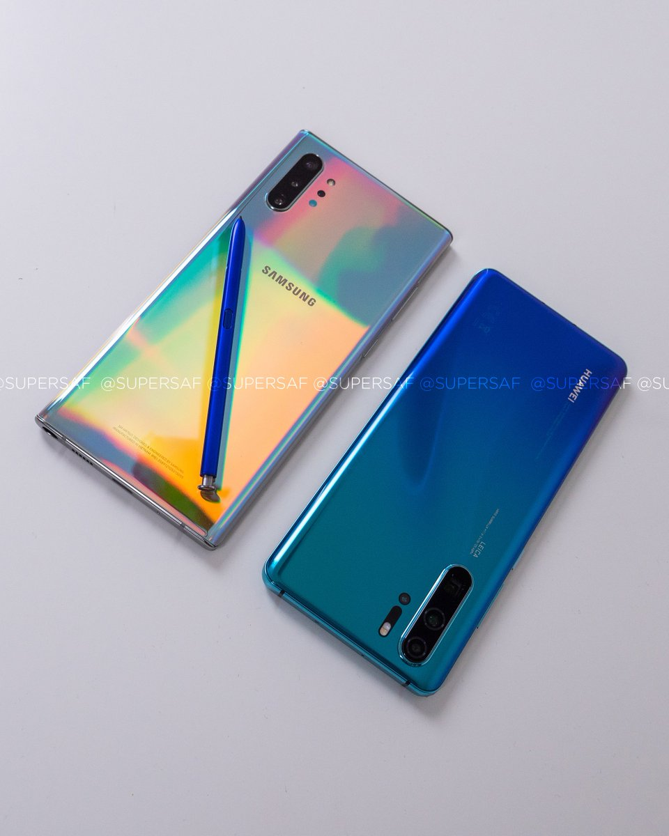 """Samsung Galaxy Note 10+ or Huawei P30 Pro? The most """"colorful"""" smartphones on the market right now   Full #SuperSafStyle Camera Comparison is on the channel ICYMI ►►►  https://www. youtube.com/watch?v=4obM8K bMHoI&list=PL7lJjKhsIqjJpRf_aHXz995JbZyoVDJRq&index=2&t=0s  … <br>http://pic.twitter.com/uFqOYuaglA"""