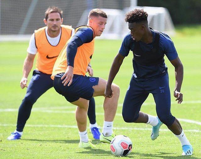 Callum Hudson Odoi back involved in training with the Chelsea squad. <br>http://pic.twitter.com/TDT2ta09Kk