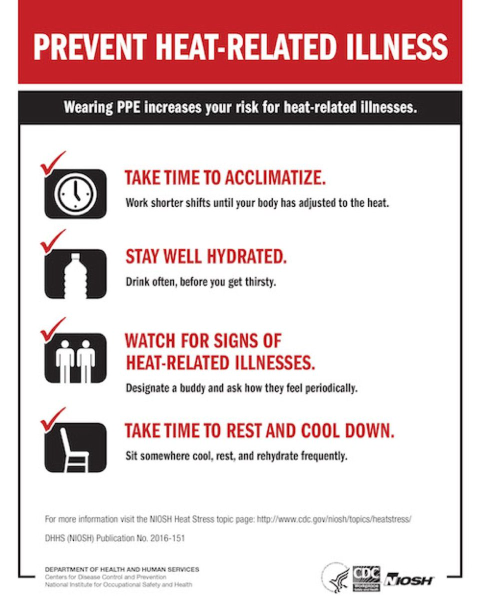 Ibew On Twitter It S Hot Out There Today Please Stay Safe And Follow These Safety Tips