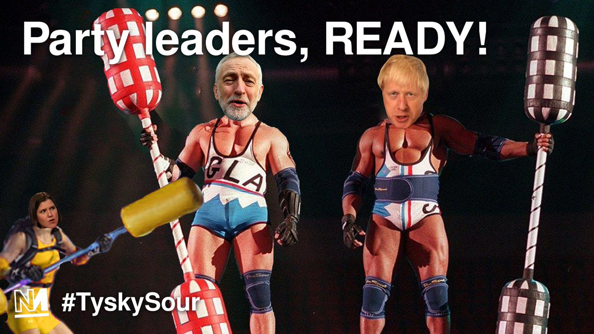 Arrrrrrrrrre youuuuuuuuu READY????? #TyskySour is back! Tonight at 8PM @michaeljswalker @AyoCaesar and @piercepenniless will be discussing which party leader ends the summer ready for battle. 🥊🥊 novara.media/2ZkBgck