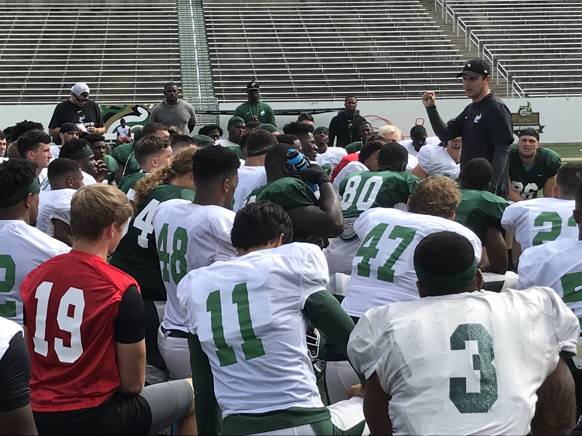 """. @Coach_heals talking to @CharlotteFTBL about """"buy in"""" specifically on Special Teams"""