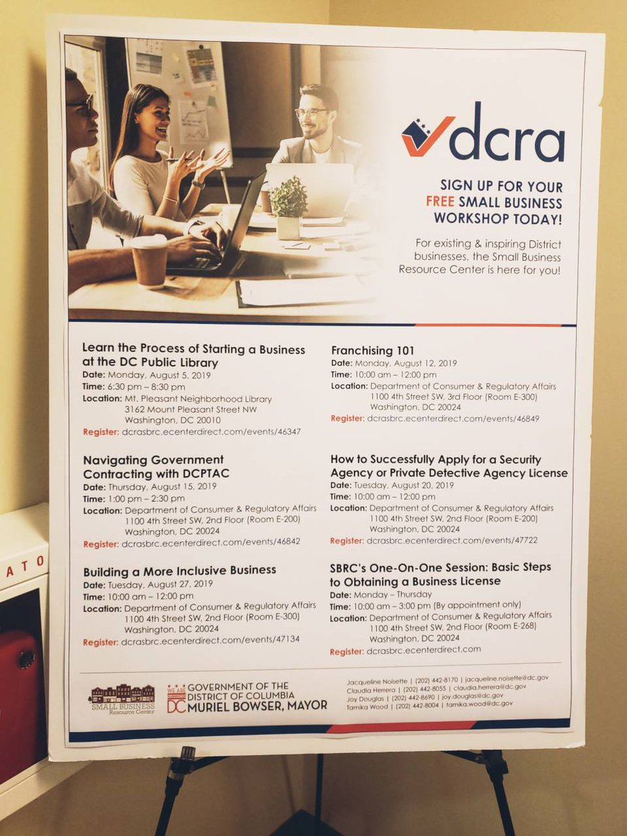 DCRA's SBRC (@DCRA_SBRC) | Twitter