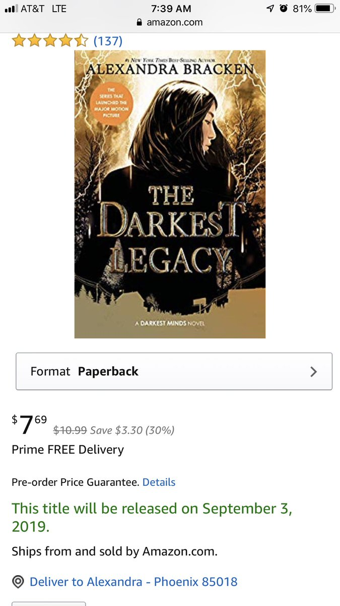 It looks like TDL's paperback will be out on September 3rd! 🖤⚡️