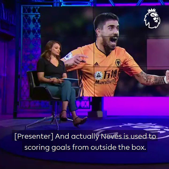 """""""He's as good as there is in the league""""Owen Hargreaves is full of praise for Ruben Neves, who he thinks is one of the #PL's best long-distance shooters 💪"""