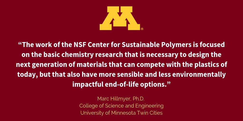 NSF Center for Sustainable Polymers (@UMN_CSP) | Twitter