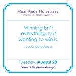 [CALENDAR] #DailyMotivation from Vince Lombardi Jr. #HPU365