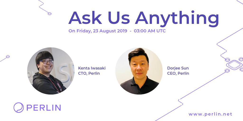 Have a burning question you'd like to ask #Perlin before the @Binance Launchpad sale? 🤔Now's your chance!    Join @PerlinNetwork CEO @Dorjeesun & CTO @xtwokei for a LIVE video AMA on August 23rd at 3:00AM UTC.   Comment your questions 👇 to have them answered live! https://t.co/2gTqIKQ735