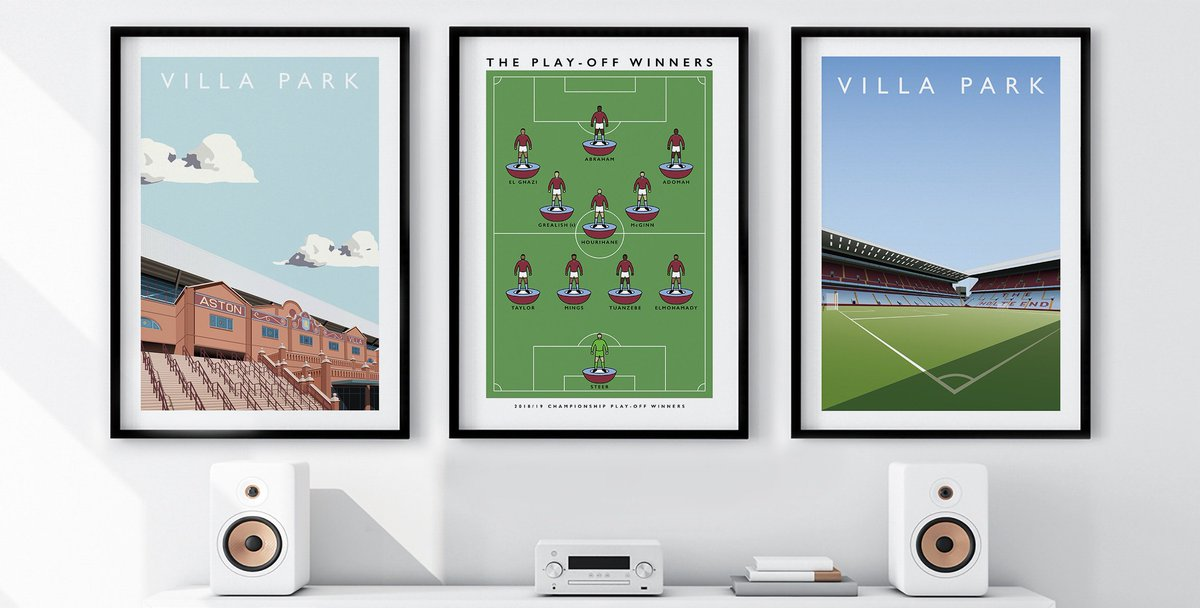 Villa Park and The Play-Off Winners available in A2 & A3 at matthewjiwood.com RTs much appreciated #avfc #villa #utv