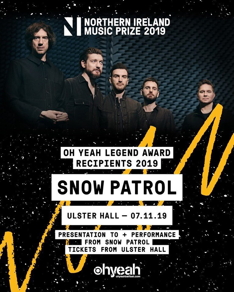 Snow Patrol to be honoured with 'Legend Award' in Belfast on November 7th. lovebelfast.co.uk/snow-patrol-to… @snowpatrol