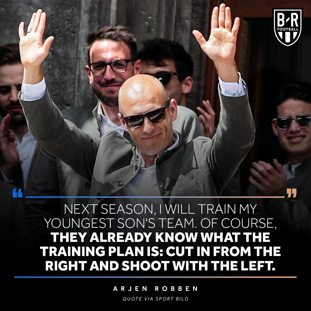 Arjen Robben only knows one way 😂