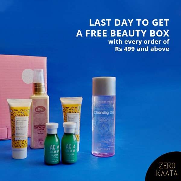Rakhi Sale Ends Today!Shop now and get upto 80% sitewide + a Free beauty kit with every order of Rs 499 and aboveShop here: http://bit.ly/2T7eM9c#zerokaata #tribalbyzerokaata #rakhigifts #rakhigiftsforsister #giftsforrakhi #rakshabandhanspecial