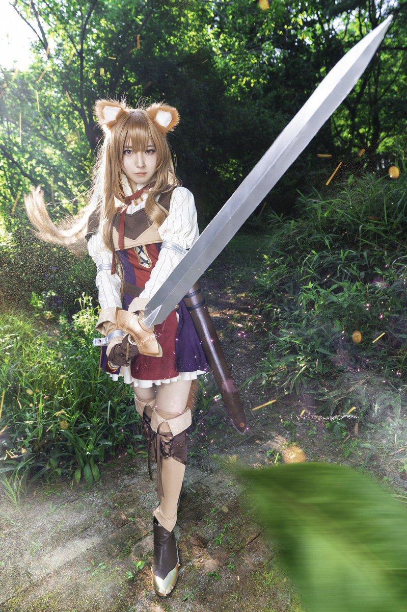 【Cosplay】盾の勇者の成り上がり     ラフタリア「私はあなたの剣です!どこへでもついて行きます。」photo→(@m_m_s_m_m_ )
