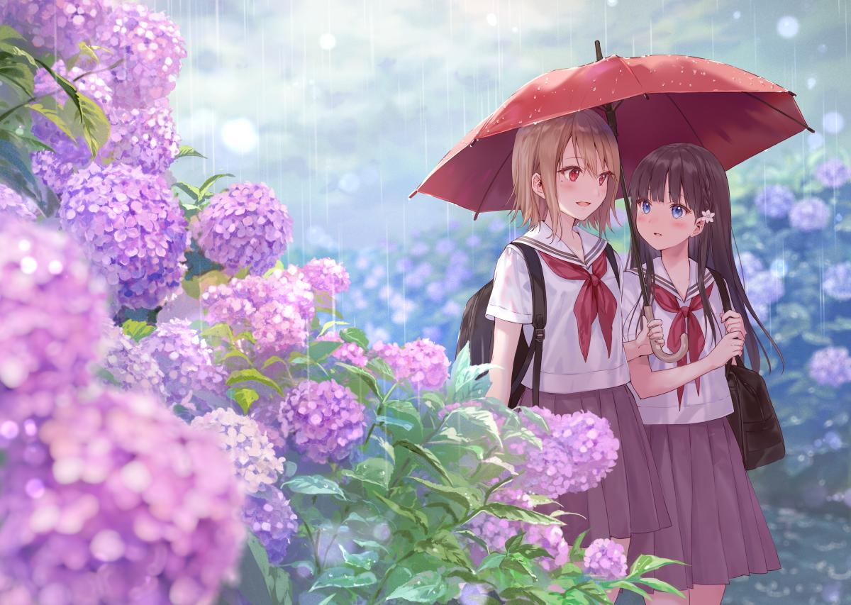 RT @fuka_hire: 通り雨と相合傘 https://t.co/tPKwbyb2L6