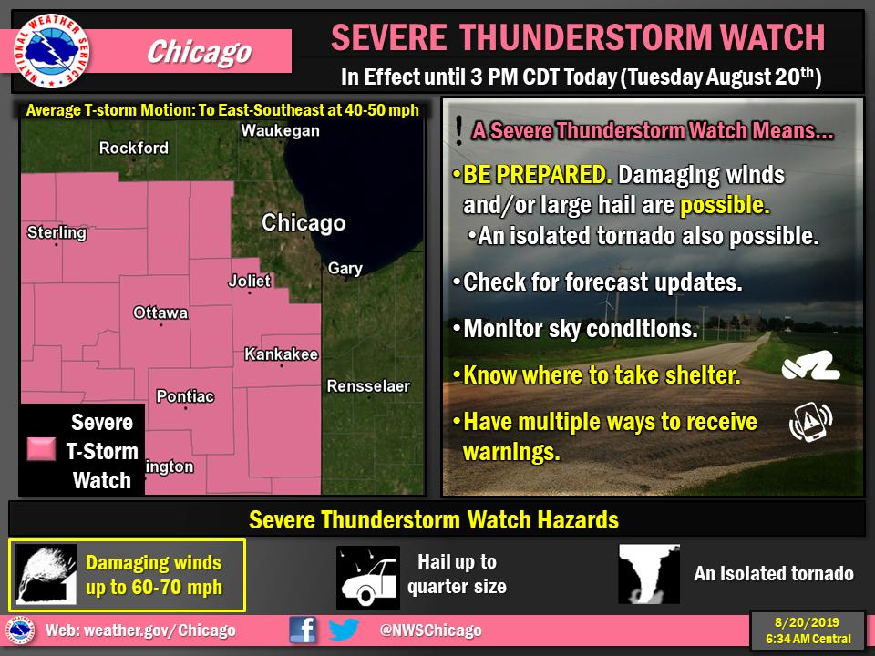 Severe thunderstorm watch issued as system threatens hail, strong winds and heavy downpours that may cause flo