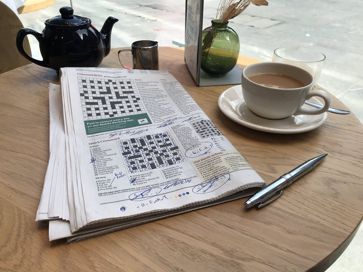 It's the simple pleasures. I'm really enjoying having the time to do the quick crossword, slowly. #wellbeing #mentalhealth #holiday #offwork