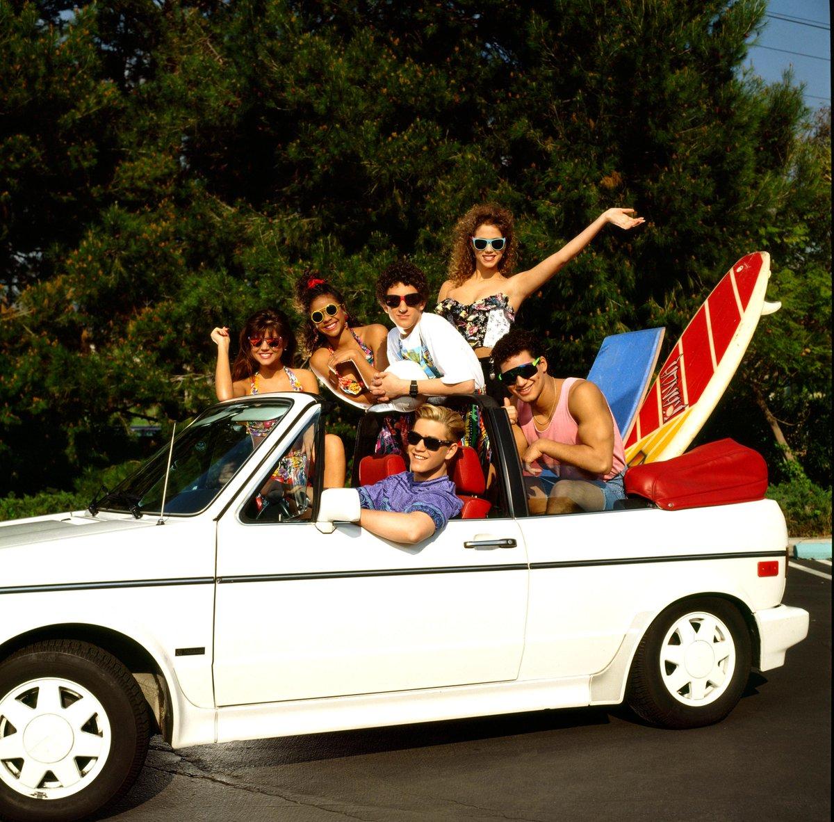 Zack&Kelly&Slater&Jessie&Lisa&Screech&Belding.Happy 30th anniversary, #SavedByTheBell!