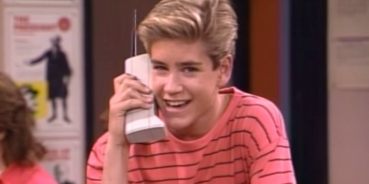 On this day in 1989: Saved by the Bell debutsZack Morris' Motorola phone:*took 10 hours to charge*had 30 minutes of battery life*would cost $9,865 in today's prices