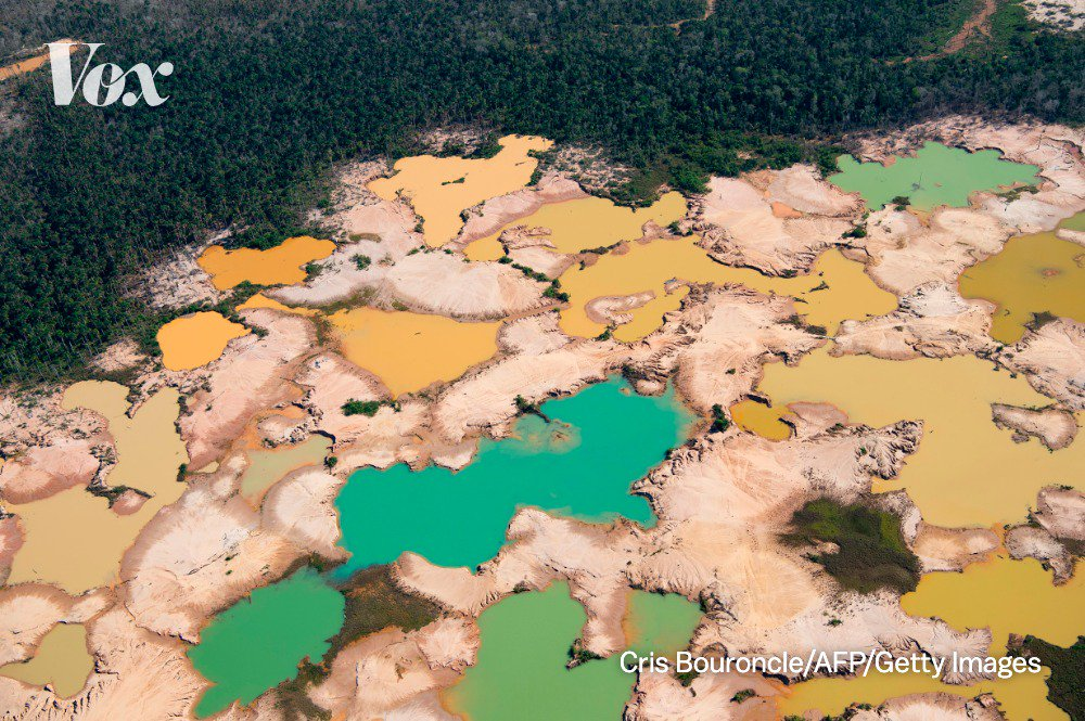 The Amazon rainforest has seen roughly 15 to 17% deforestation. Once deforestation reaches around 25%, the forest may not be able to move enough water to sustain itself and may degrade into a savanna, releasing gobs of carbon into the air. bit.ly/2YZ316p