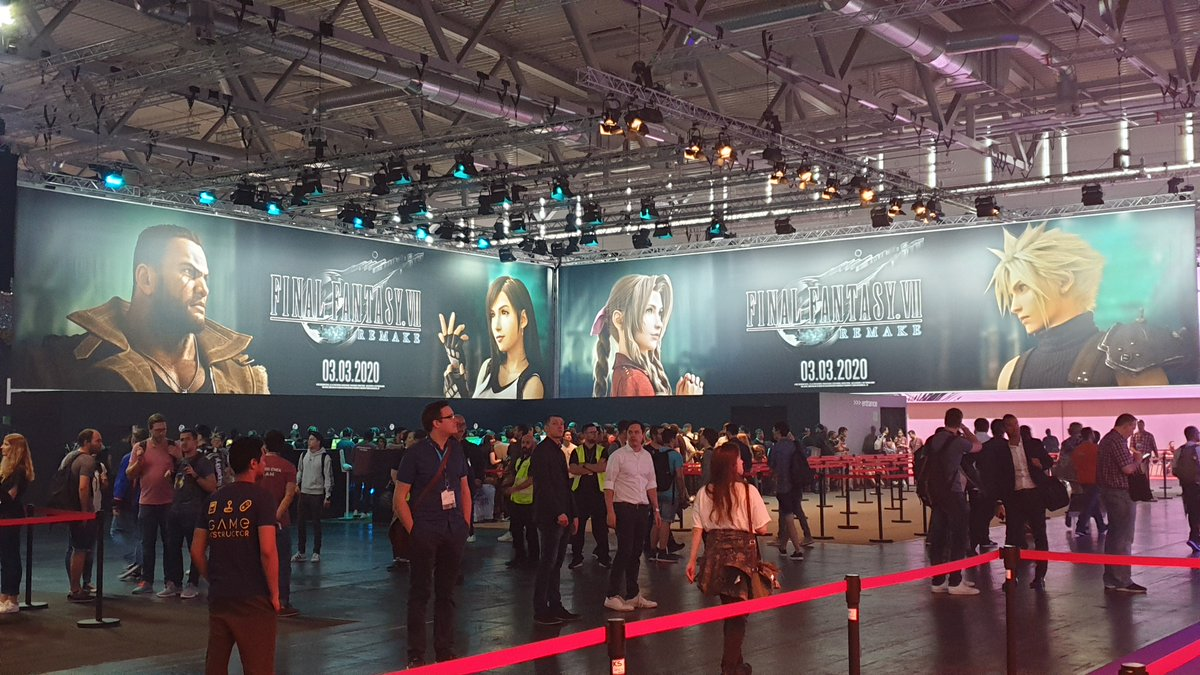 #FinalFantasy VII Remake has landed at #gamescom2019!The show opens to the public tomorrow, so come and find us in Hall 9 to play it for yourself. #FF7R