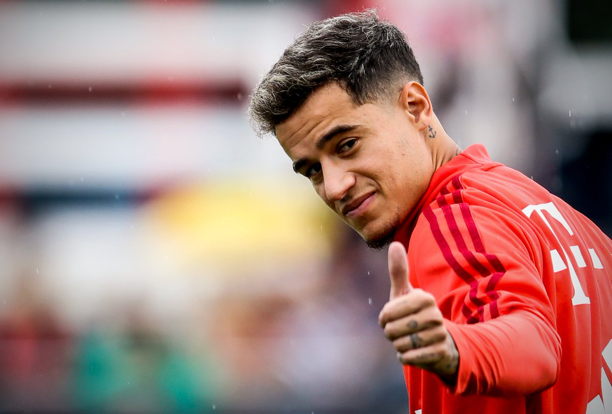 RT @brfootball: Philippe Coutinho trains with Bayern for the first time 👍 https://t.co/Q0THQvmPUy