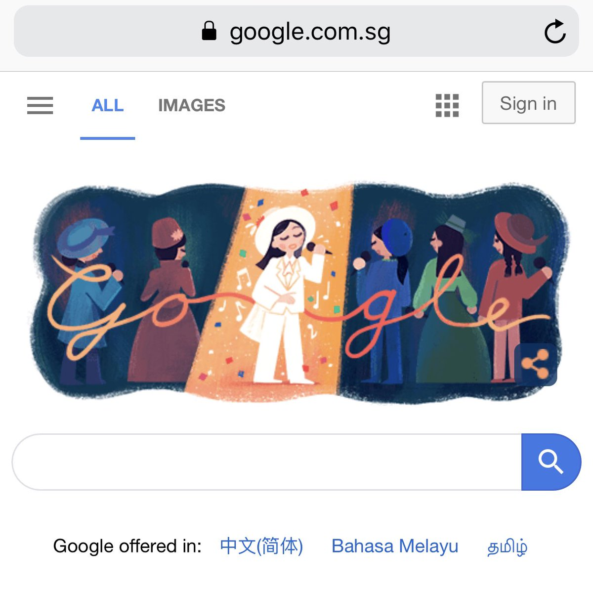 Just realized that Google did a Google Doodle for Feng Fei Fei today. https://t.co/0L5OXn32IH