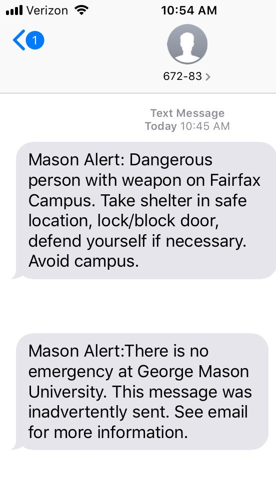 Well this disrupted my SAS coding. The five minutes between these texts were terrifying. We don't have to live like this. In November VA will elect a senate and house of delegates who will enact common sense gun reform. @MomsDemand #VALEG #ExpectUs <br>http://pic.twitter.com/qChtAIagAo