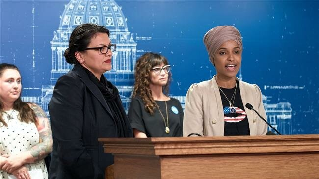 #US #Muslim Reps. Omar, Tlaib speak up against #Israeli crimes after #travel ban ptv.io/2lkl
