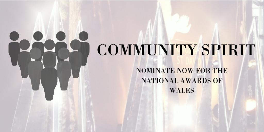 Community Spirit Award: For those who have worked to improve their local community or communities across Wales on an ongoing basis. Who will you nominate? ow.ly/zCqt30lwsJZ #NationalAwardsOfWales
