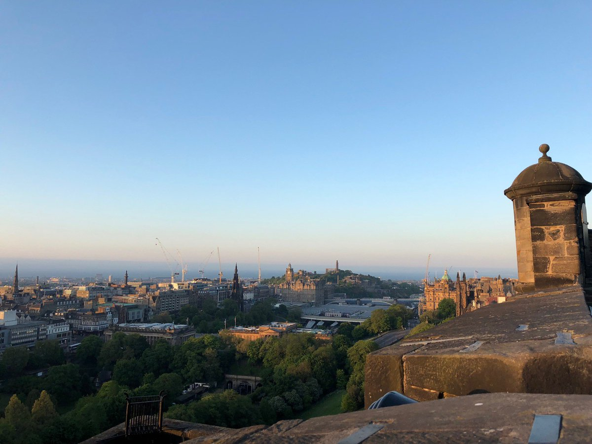 The panoramic views from our battlements are one of the highlights of a visit to the castle. Especially those from The Argyle Battery where visitors can enjoy the city skyline and beyond. #EdinburghCastle #TravelTuesday