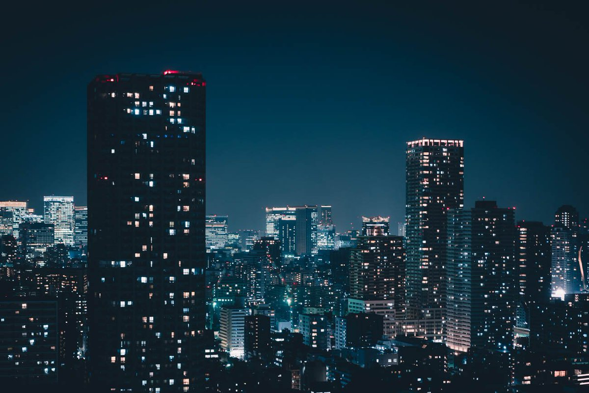東京の明かりは時に癒やし…