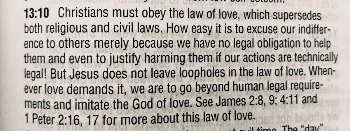 #lovethyneighbor #loveeternal  Commentary from Romans 13:10<br>http://pic.twitter.com/c4b8p0JVyl