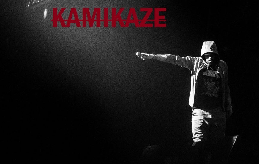 """""""You got some views, but you're still below me Mine are higher, so when you compare our views, you get overlooked"""" Eminem's """"KAMIKAZE"""" Album completes 50 Weeks on Billboard Top 200  <br>http://pic.twitter.com/Lnl8MtwrM0"""