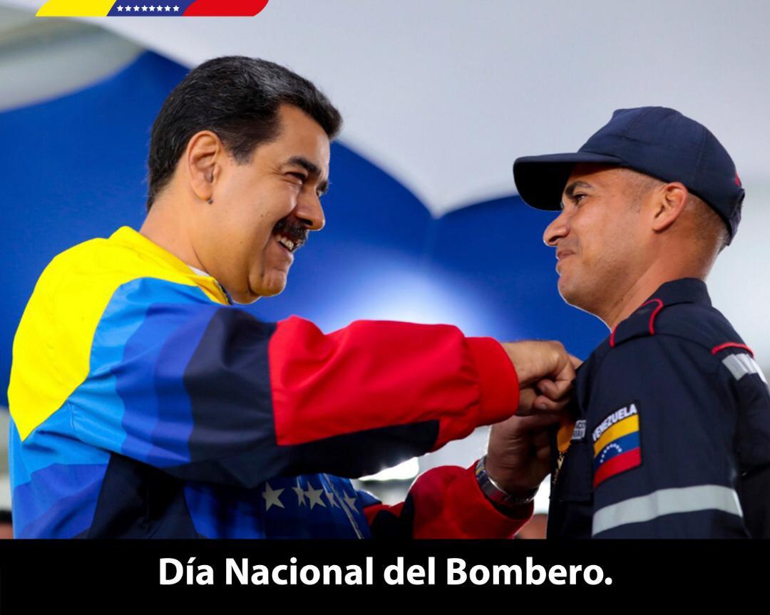 ¡Feliz Día a los Bomberos y Bomberas de la Patria! Extiendo mis saludos y gratitud a su compromiso y dedicación diaria por proteger al pueblo venezolano en situaciones difíciles. Su amorosa labor es un ejemplo de sacrificio y humanismo para todas y todos. ¡Los abrazo!