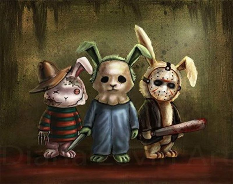 Злой кролик картинки прикол, днем