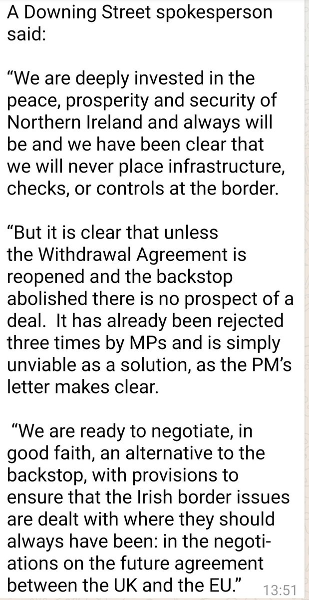 No10 not backing down.